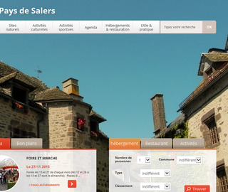Site de l'office de tourisme du pays de Salers